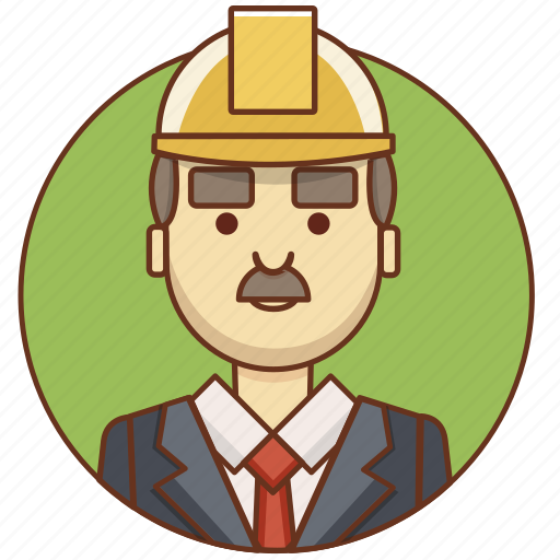 builder, businessman, cartoon, character set, engineer, man, person icon