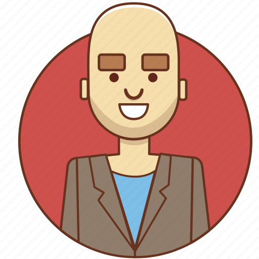 bald, businessman, cartoon character, character set, man, office, person icon