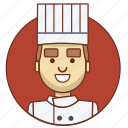 cartoon character, character, character set, chef, man, person icon