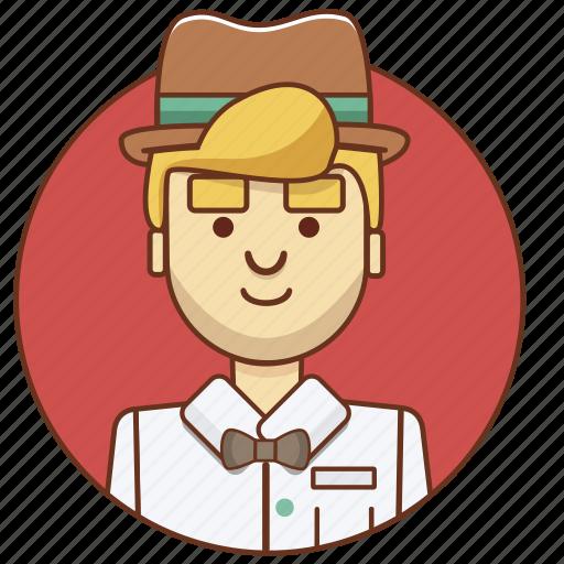 businessman, cartoon character, character, character set, man, person icon