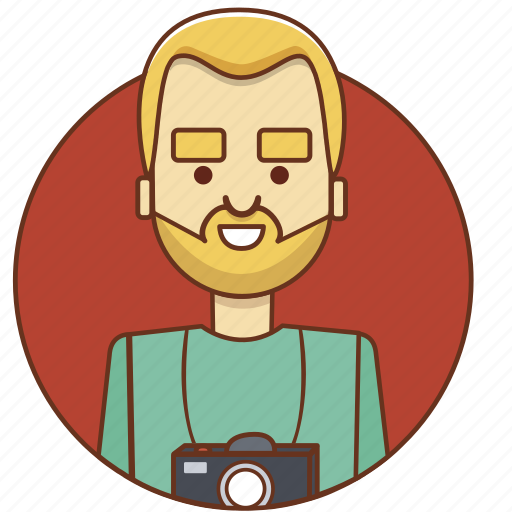 cartoon, character, character set, male, man, photo, photographer icon