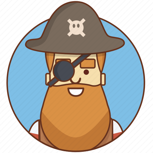cartoon, character, character set, male, man, person, pirate icon