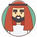 arab, cartoon, character, character set, male, man, person icon