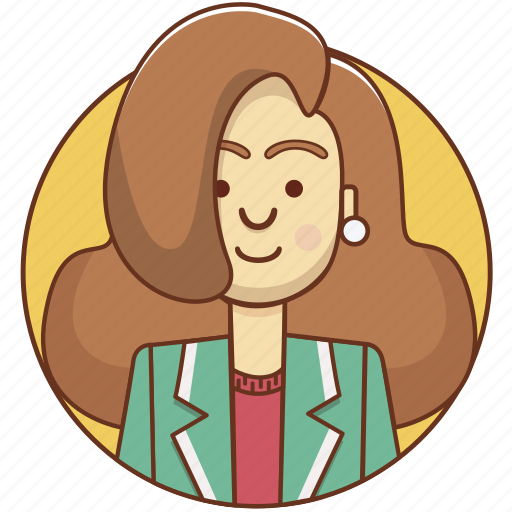 cartoon, character, character set, girl, person, style, woman icon