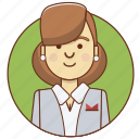 businessgirl, cartoon, character, character set, girl, office, woman icon