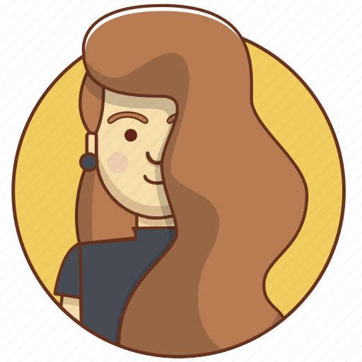 cartoon, character, character set, cute, girl, style, woman icon