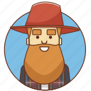 cartoon, character, character set, farmer, guy, man, person icon