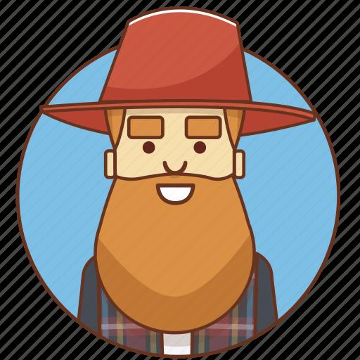 cartoon, character, character set, farmer, guy, man, person icon