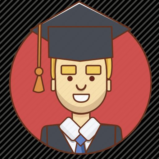 cartoon, character, character set, graduate, guy, man, person icon