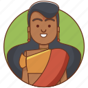 character, character set, culture, girl, hindu, person, woman icon