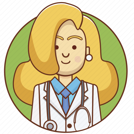 character, character set, doctor, girl, medicine, person, woman icon