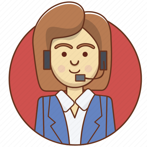 business, character, costumer service, employeer, girl, help, woman icon
