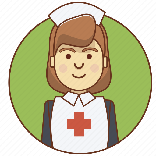 character, character set, medicine, nurse, profession, woman icon