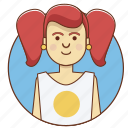 cartoon character, character, charcater set, girl, sweet, woman icon