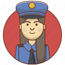 character, character set, girl, law, person, police, woman icon