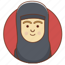 arab, cartoon, character, character set, culture, girl, person icon