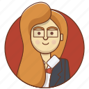 business, businessgirl, character, entrepreneur, girl, teacher, woman icon