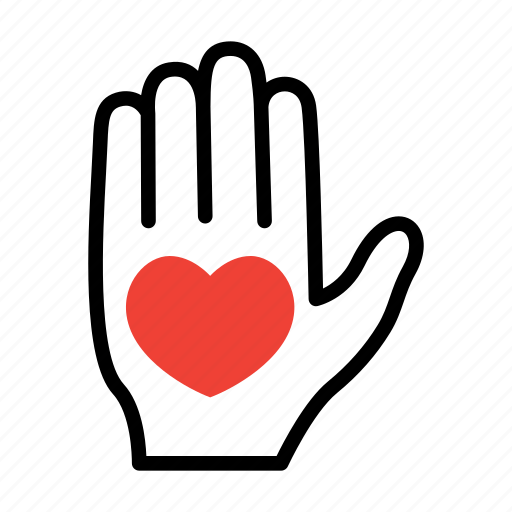 charity, hand, help, support icon