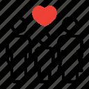 care, family, heart, love icon