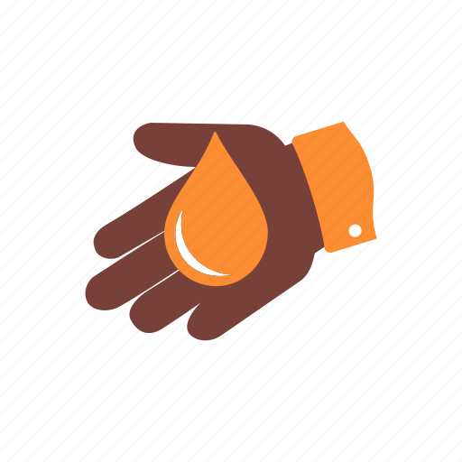 blood, care, charity, donation, hand, help, volunteer icon