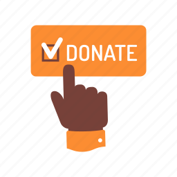 charity, donation, endowment, hand, help, humanitarian, support icon