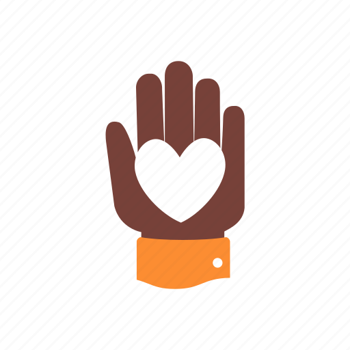 charity, donation, hand, heart, help, humanitarian, volunteer icon