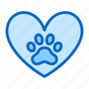 charity, heart, paw, pet, shelter, support icon