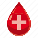 blood, cartoon, cross, donation, drop, medicine, shiny icon