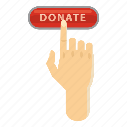 assistance, cartoon, charity, click, donate, help, support icon