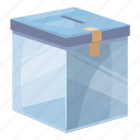 assistance, box, cartoon, charity, donate, donation, help icon