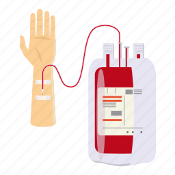 blood, cartoon, donate, donor, give, heart, life icon