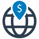 atm, business, global, location icon