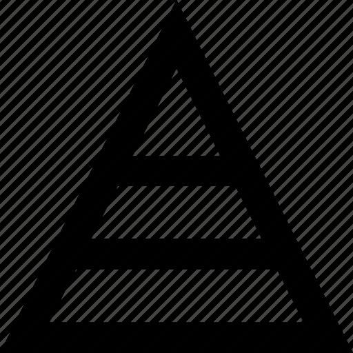 analytics, business, chart, graph, pyramid, statistics icon