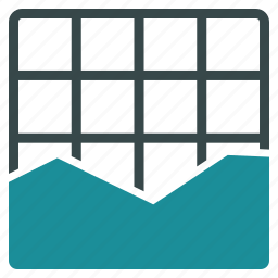 analytics, area chart, diagram, graph, infographic, plot, statistics icon