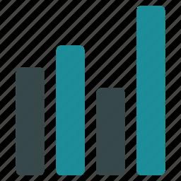 analytics, bar chart, charts, diagram, graph, graphs, rectangular icon