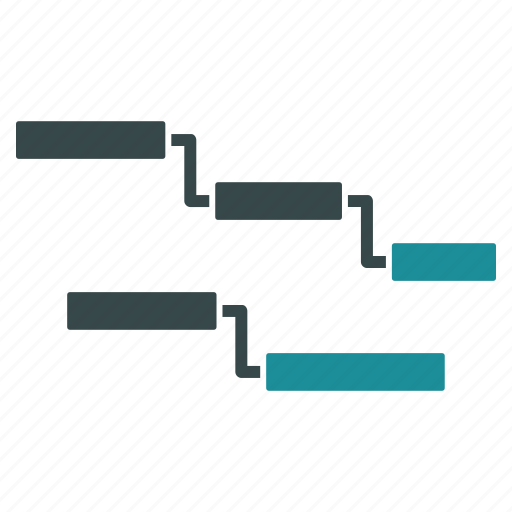 analytics, diagram, gantt chart, graph, presentation, progress, report icon
