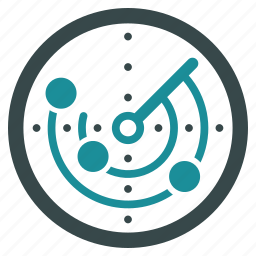 circular, monitor, navigation, polar coordinate, radar, scanner, signal icon