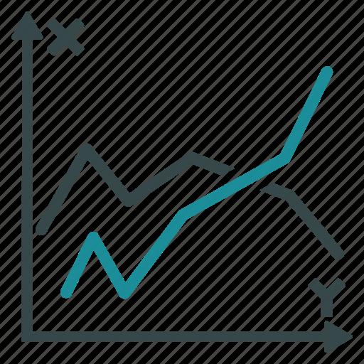 analysis, analytics, diagram, graph, line chart, plot, polygonal functions icon