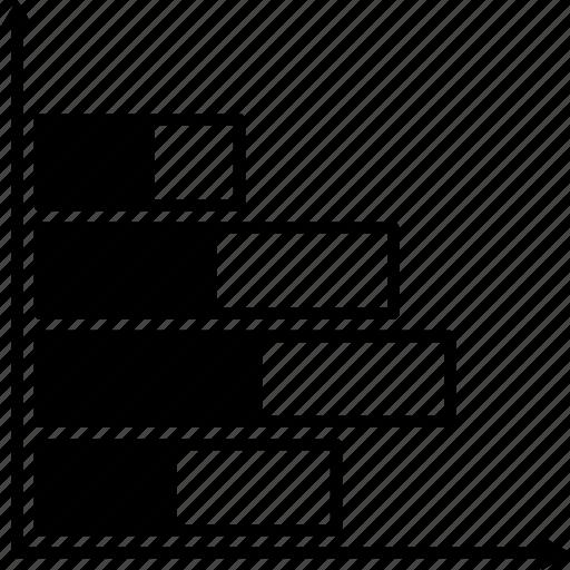 bar, chart, horizontal icon