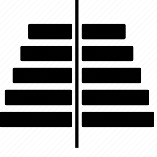 bar, chart, pyramide icon