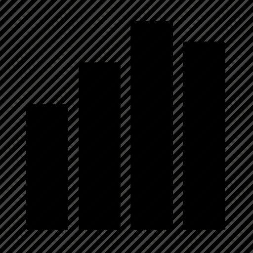 analytics, bar, chart icon
