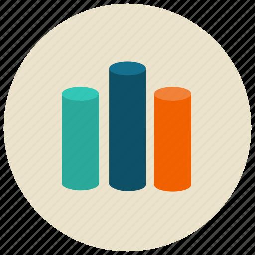 bars, charts, graph, presentation icon