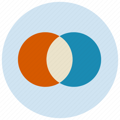 chart, charts, circle, overlap, presentation icon