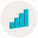 bars, charts, graph, presentation icon