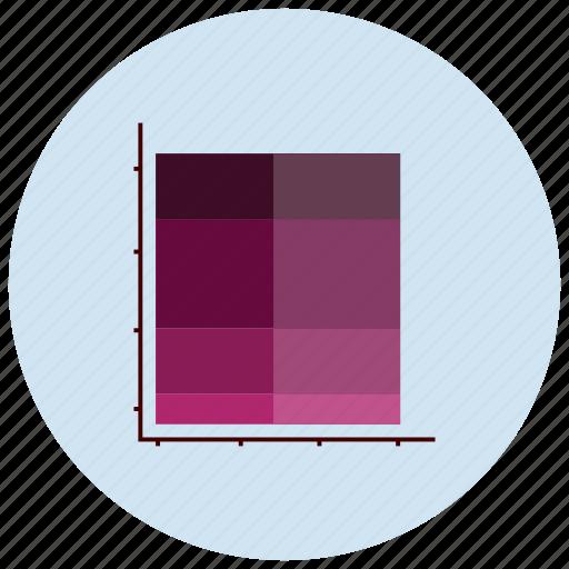 charts, color, graph, presentation icon