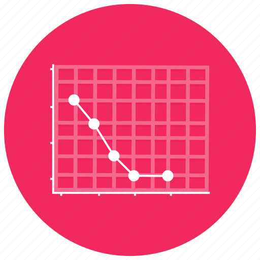 charts, fall, graph, negative, plumiting, presentation icon