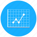 charts, graph, positive, presentation, rising icon