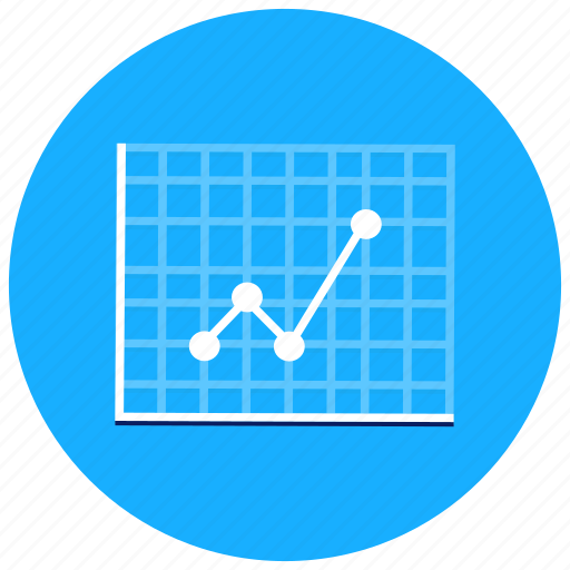 charts, graph, positive, presentation, rising icon