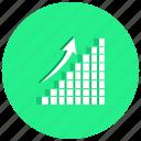 arrow, blocks, charts, graph, rise, rising