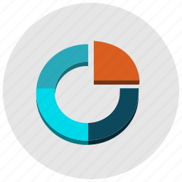 chart, charts, circle, pie, presentation icon